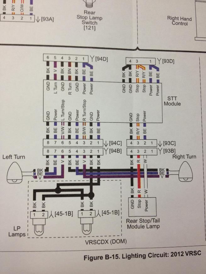 VRSCD/X Night Rod (Sp.): 3 in 1 LED Blinker bei US Modell Hinten ...