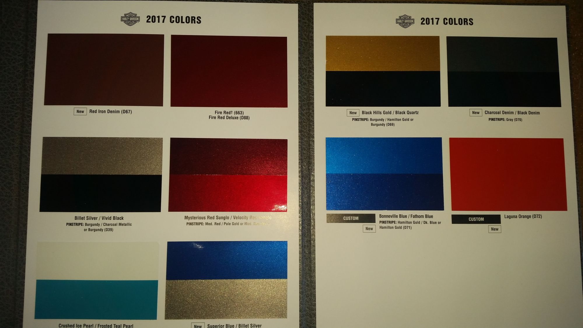 Harley Davidson Paint Colors Codes