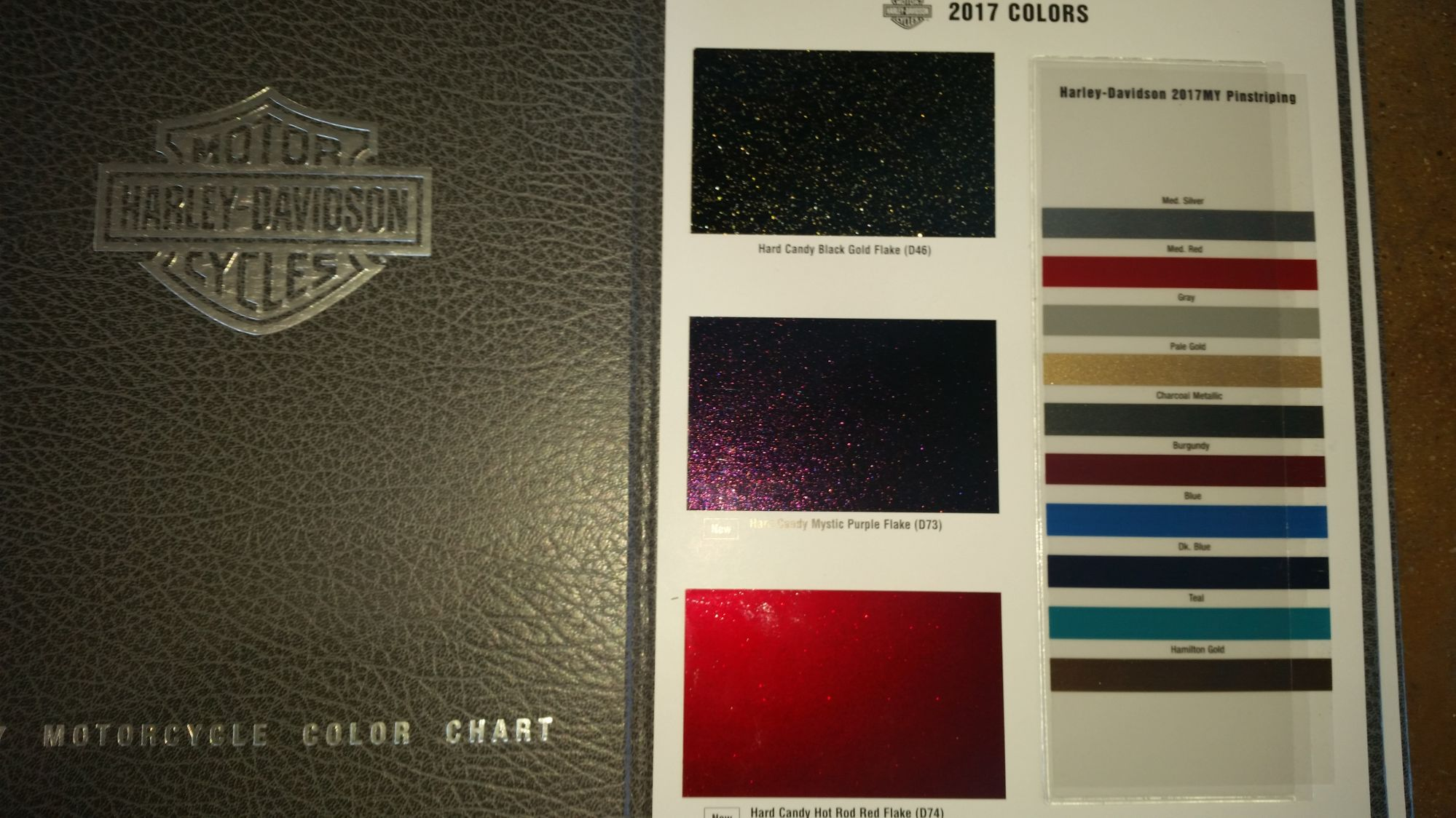 Harley Davidson Color Codes