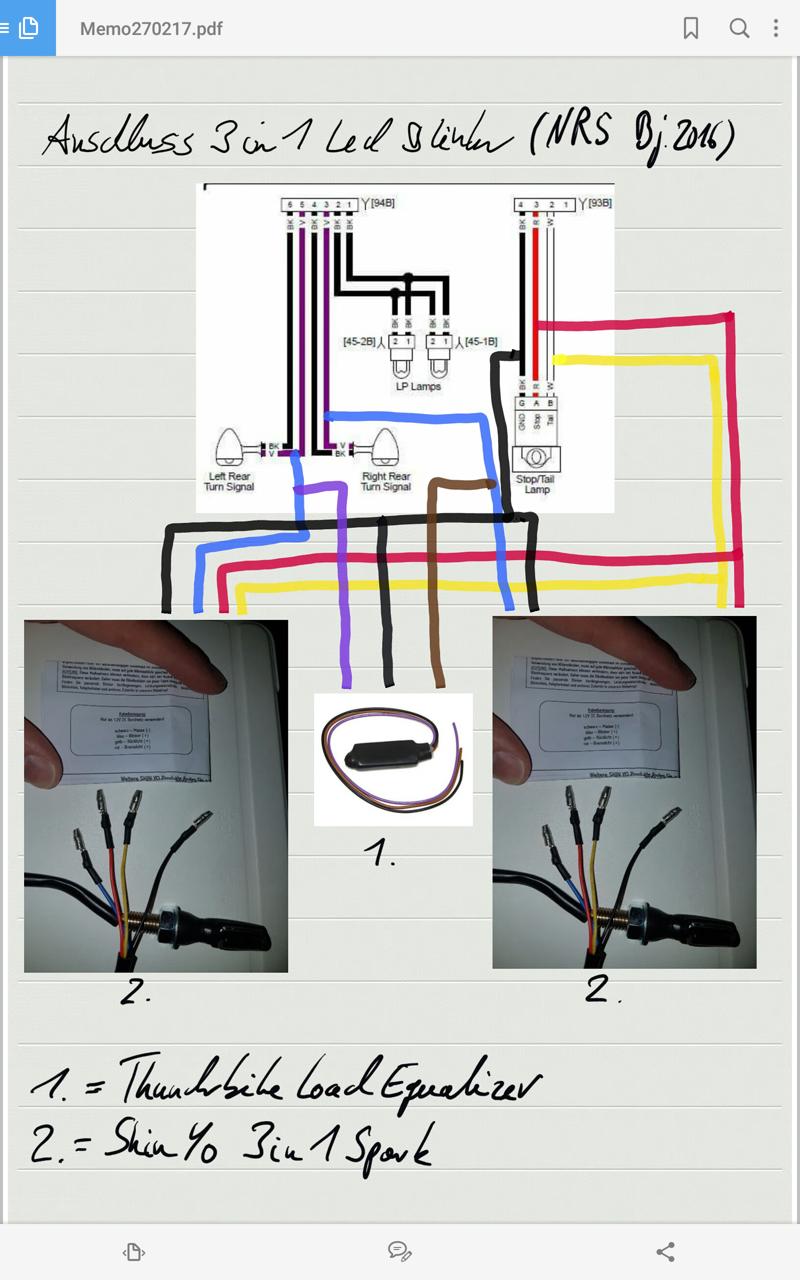 vrscd x night rod sp 3 in 1 led blinker bei us modell. Black Bedroom Furniture Sets. Home Design Ideas