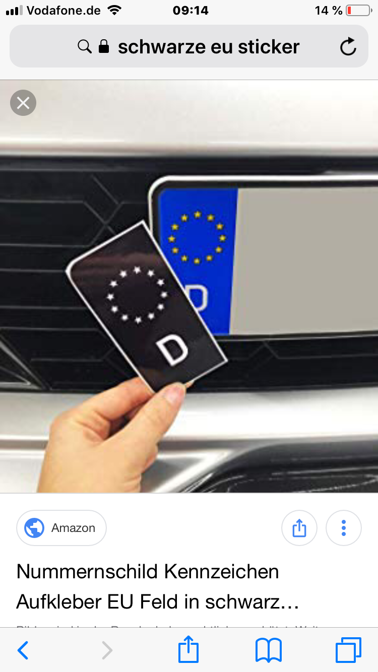 Erfahrungen Mit Schwarzen Eu Sticker Kennzeichen S 1